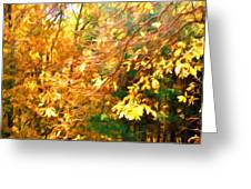 Branch Of Autumn Leaves Greeting Card