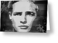 Brando Odyssey Black And White Greeting Card