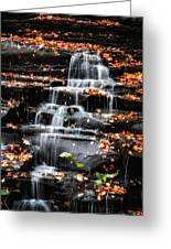 Brandywine Falls In Autumn Greeting Card