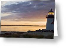 Brant Point Dawn - Nantucket Greeting Card by Henry Krauzyk