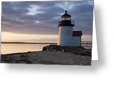 Brant Point Light Number 1 Nantucket Greeting Card by Henry Krauzyk