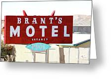 Brants Motel Sign Barstow Greeting Card