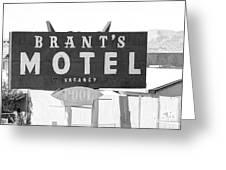 Brants Motel Signage Greeting Card