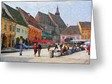 Brasov Council Square Greeting Card