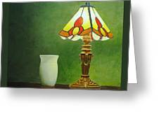 Brass Lampshade Greeting Card