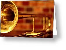 Brass Trombone Greeting Card