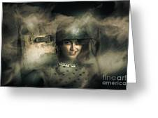 Brave Army Pinup Greeting Card