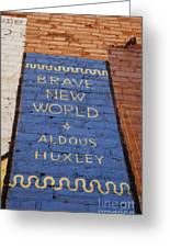 Brave New World - Aldous Huxley Mural Greeting Card