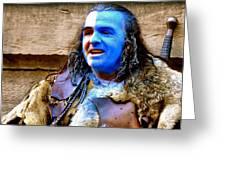 Braveheart Busker In Edinburgh Greeting Card