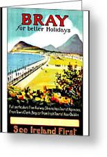 Bray, Ireland, Coast, Scenery Greeting Card