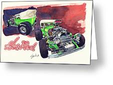 Brazilian Hot Rod V8 Greeting Card