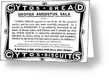 Bread Ad C1896 Greeting Card