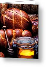 Bread And Honey Greeting Card by Garry Gay