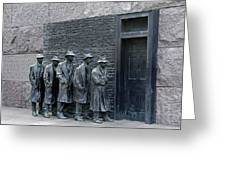 Breadline At The Fdr Memorial - Washington Dc Greeting Card by Brendan Reals