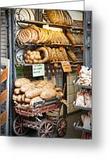 Breads For Sale Greeting Card