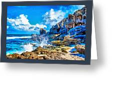 Breakers On The Rocks At Kenridgeview - On - Sea L A S Greeting Card