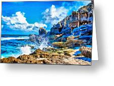 Breakers On The Rocks At Kenridgeview - On - Sea L B Greeting Card