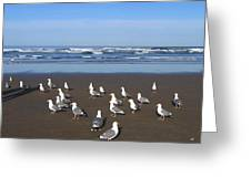 Breakfast At Cannon Beach Greeting Card