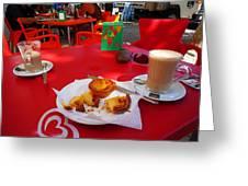 Breakfast In Portugal Greeting Card