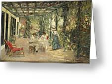 Breakfast On The Terrace Sir John Lavery Greeting Card