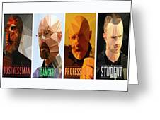 Breaking Bad Polygons - 496 Greeting Card