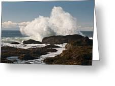 Breaking On The Shore Greeting Card