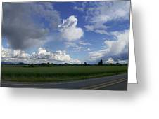 Breaking Storm Over The Willamette Valley 170522-170551 Greeting Card