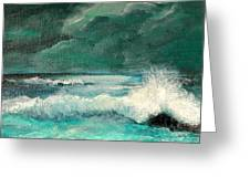 Breaking Storm Greeting Card by Shirley Lawing