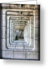 Breaking Through The Forth Wall Greeting Card