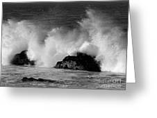 Breaking Wave At Pacific Grove Greeting Card