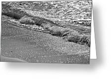 Breaking Wave In Black And White Greeting Card