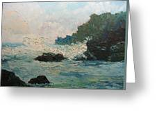 Breaking Waves - Number One Greeting Card