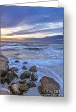 Breaking Waves At Old Silver Beach Greeting Card