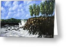 Breaking Waves Painting Greeting Card