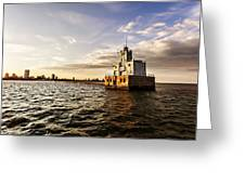 Breakwater Lighthouse Greeting Card