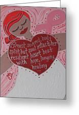 Breast Cancer Goddess Greeting Card
