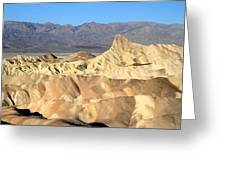 Breath Taking Landscape Of Zabriskie Point Greeting Card