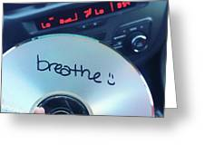 Breathe Mix Cd Greeting Card