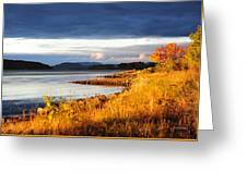 Breathing The Autumn Air Greeting Card