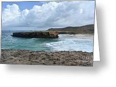 Breathtaking Boca Keto Beach On The Island Of Aruba Greeting Card