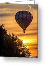 Breathtaking Hot Air Greeting Card