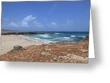 Breathtaking View Of Daimari Beach In Aruba Greeting Card