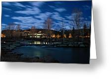 Breckenridge Blue River Night Greeting Card by Michael J Bauer