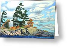 Breezy Day Georgian Bay Greeting Card
