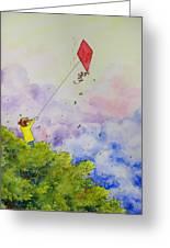 Breezy Day Happy Day Greeting Card by Jaymi Krystowiak