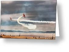 Breitling Wingwalker Biplanes Greeting Card
