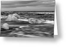 Brethamerkursandur Iceberg Beach Iceland 2155 Greeting Card