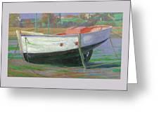 Breton Fisherboat At Paimpol  Bretagne   Greeting Card