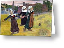 Breton Girls Dancing Pont-aven Greeting Card