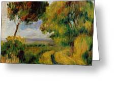 Breton Landscape Trees And Moor 1892 Greeting Card